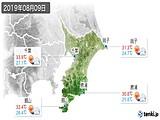 2019年08月09日の千葉県の実況天気