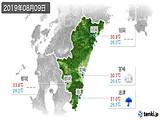 2019年08月09日の宮崎県の実況天気