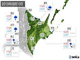 2019年08月10日の道東の実況天気