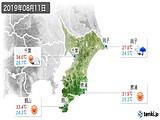 2019年08月11日の千葉県の実況天気