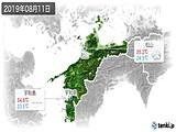2019年08月11日の愛媛県の実況天気