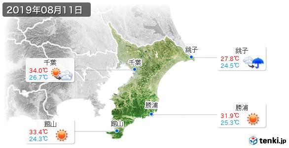 千葉県(2019年08月11日の天気