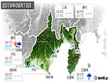 2019年08月13日の静岡県の実況天気