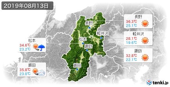 長野県(2019年08月13日の天気