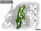 2019年08月14日の長野県の実況天気