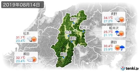 長野県(2019年08月14日の天気