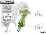 2019年08月15日の千葉県の実況天気