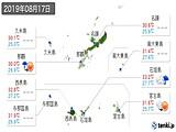 2019年08月17日の沖縄県の実況天気