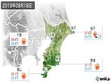 2019年08月18日の千葉県の実況天気