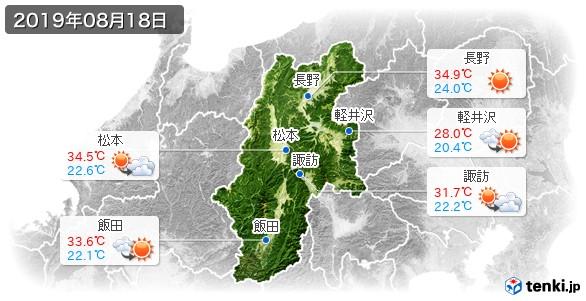 長野県(2019年08月18日の天気