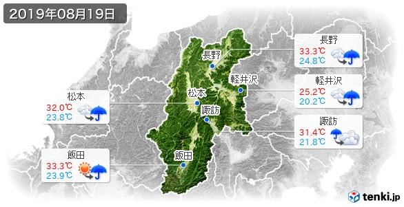 長野県(2019年08月19日の天気