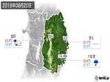 2019年08月20日の岩手県の実況天気