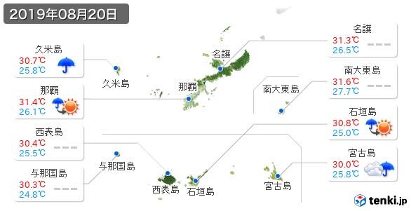 沖縄県(2019年08月20日の天気