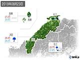 2019年08月23日の島根県の実況天気