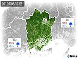 2019年08月23日の岡山県の実況天気