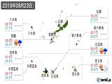 2019年08月23日の沖縄県の実況天気