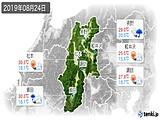 2019年08月24日の長野県の実況天気