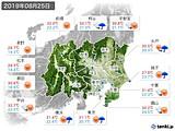 2019年08月25日の関東・甲信地方の実況天気
