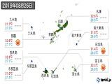 2019年08月26日の沖縄県の実況天気