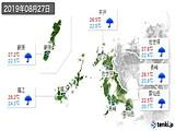 2019年08月27日の長崎県の実況天気