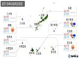 2019年08月28日の沖縄県の実況天気
