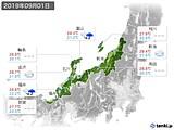 2019年09月01日の北陸地方の実況天気
