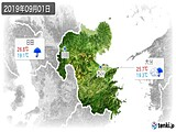 2019年09月01日の大分県の実況天気