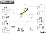 2019年09月01日の沖縄県の実況天気
