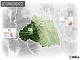 2019年09月02日の埼玉県の実況天気