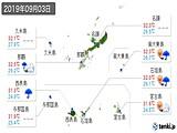 2019年09月03日の沖縄県の実況天気