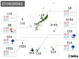 2019年09月04日の沖縄県の実況天気