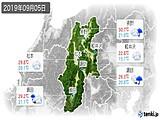 2019年09月05日の長野県の実況天気