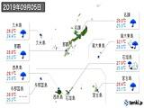 2019年09月05日の沖縄県の実況天気