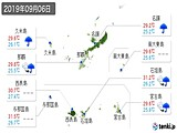 2019年09月06日の沖縄県の実況天気