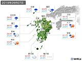 2019年09月07日の九州地方の実況天気