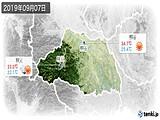 2019年09月07日の埼玉県の実況天気
