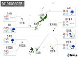 2019年09月07日の沖縄県の実況天気