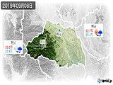 2019年09月08日の埼玉県の実況天気