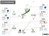 2019年09月08日の沖縄県の実況天気