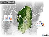 2019年09月09日の栃木県の実況天気