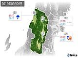 2019年09月09日の山形県の実況天気