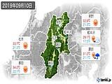 2019年09月10日の長野県の実況天気
