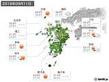 2019年09月11日の九州地方の実況天気