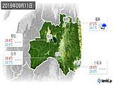 2019年09月11日の福島県の実況天気