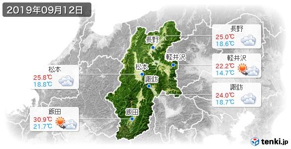 長野県(2019年09月12日の天気