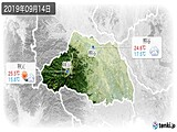 2019年09月14日の埼玉県の実況天気
