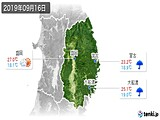 2019年09月16日の岩手県の実況天気