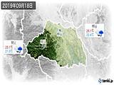 2019年09月18日の埼玉県の実況天気