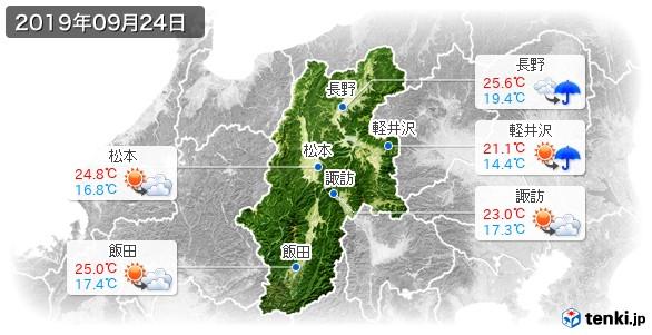 長野県(2019年09月24日の天気