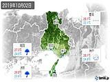 2019年10月02日の兵庫県の実況天気